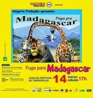 Teatro infantil é atração no fim de semana em Teresópolis dia 14/03/15