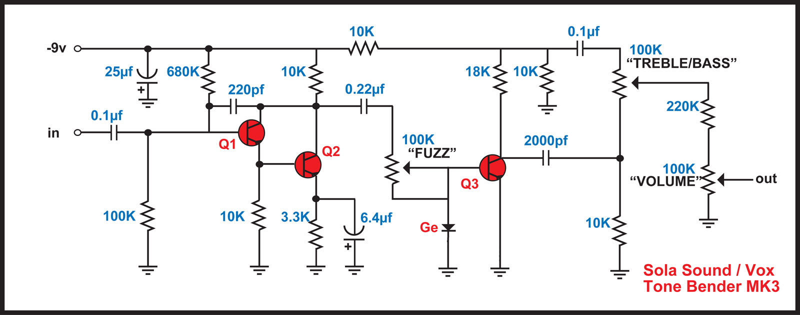 CigarVoxSolaFuzz together with Pre also Vero Vox Repeat Percussion in addition Circuit Of Tone Bender Mk3 And besides Death By Audio Fuzz War Ii. on tone bender schematic