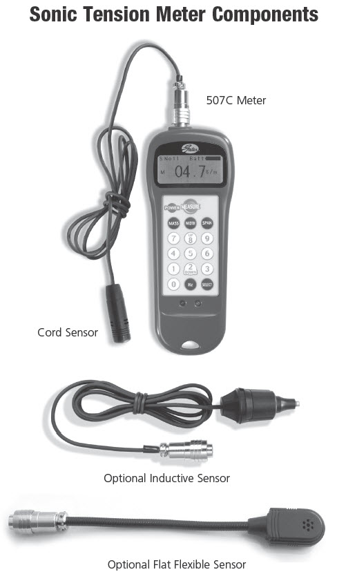 Digital Deflection Meter : The gates sonic tension meter model c is supplied with