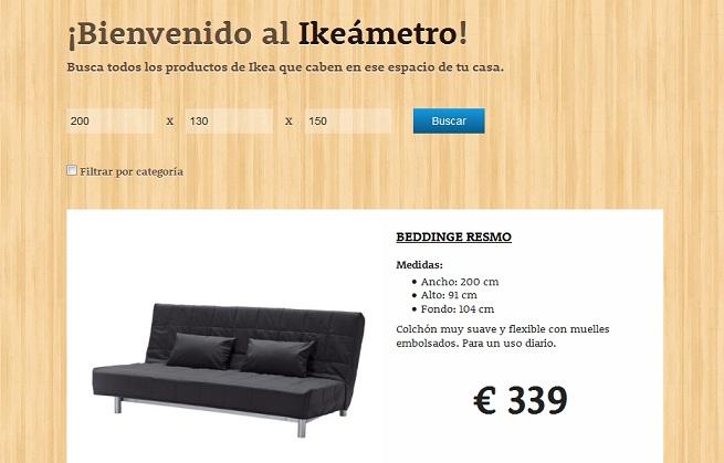Marzua ikeameter una herramienta online para encontrar for El mueble online