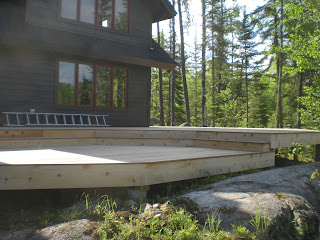 Sunshine on an Ipe deck near Ely by huisman concepts inc