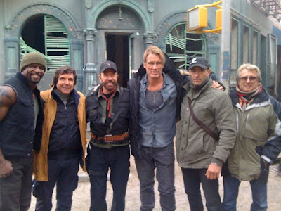 No set de Os Mercenários 2 - The Expendables 2