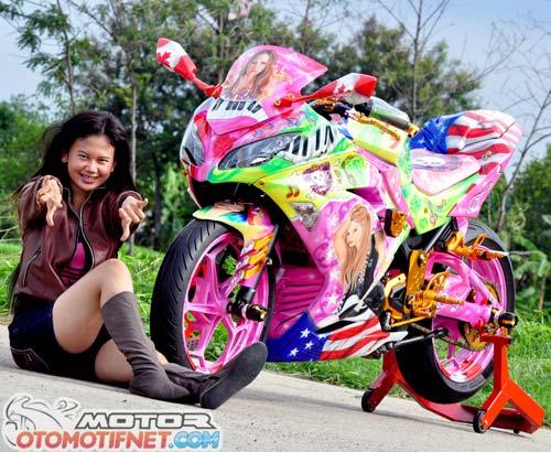 Modifikasi Ninja 250 Fi Lady Biker