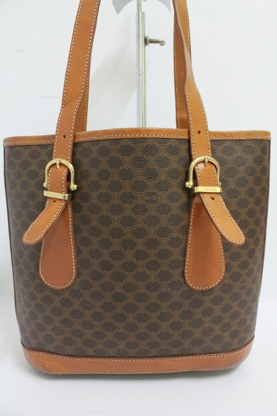 celine monogram leather bag