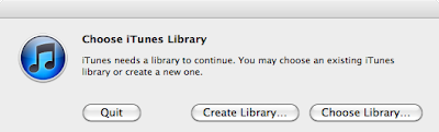 relocate itunes library to mac