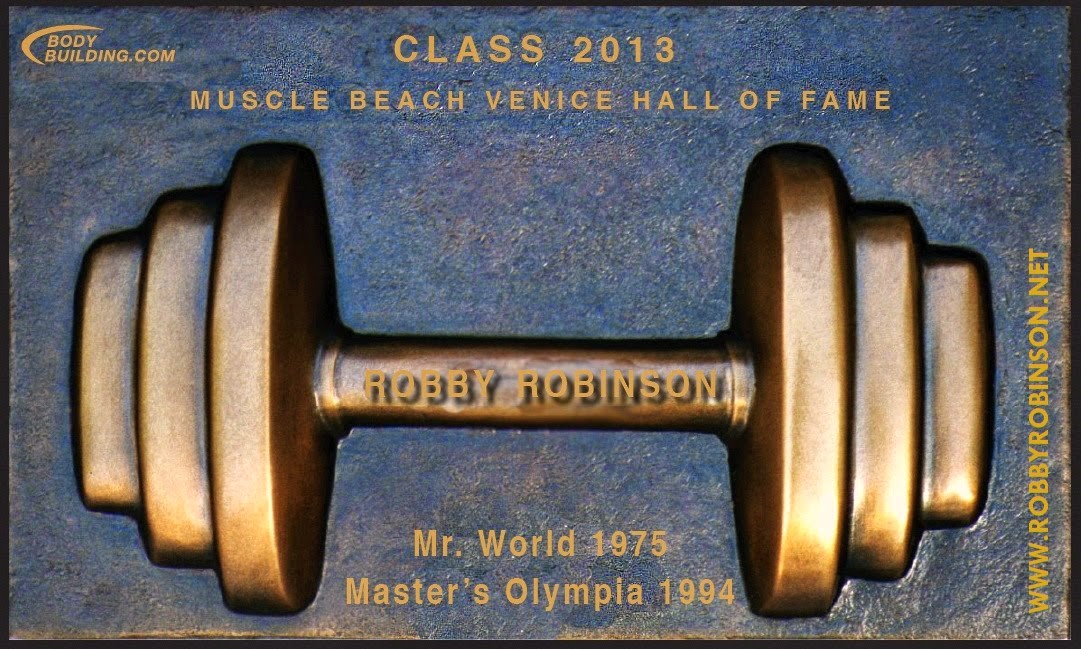 Robby Robinson's memorial plate at MB Bodybuilding Hall of Fame - Inductee Class 2013  ● www.robbyrobinson.net//dvd_master_class.php ●