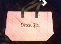 Dental Girl Monogrammed Tote Bag