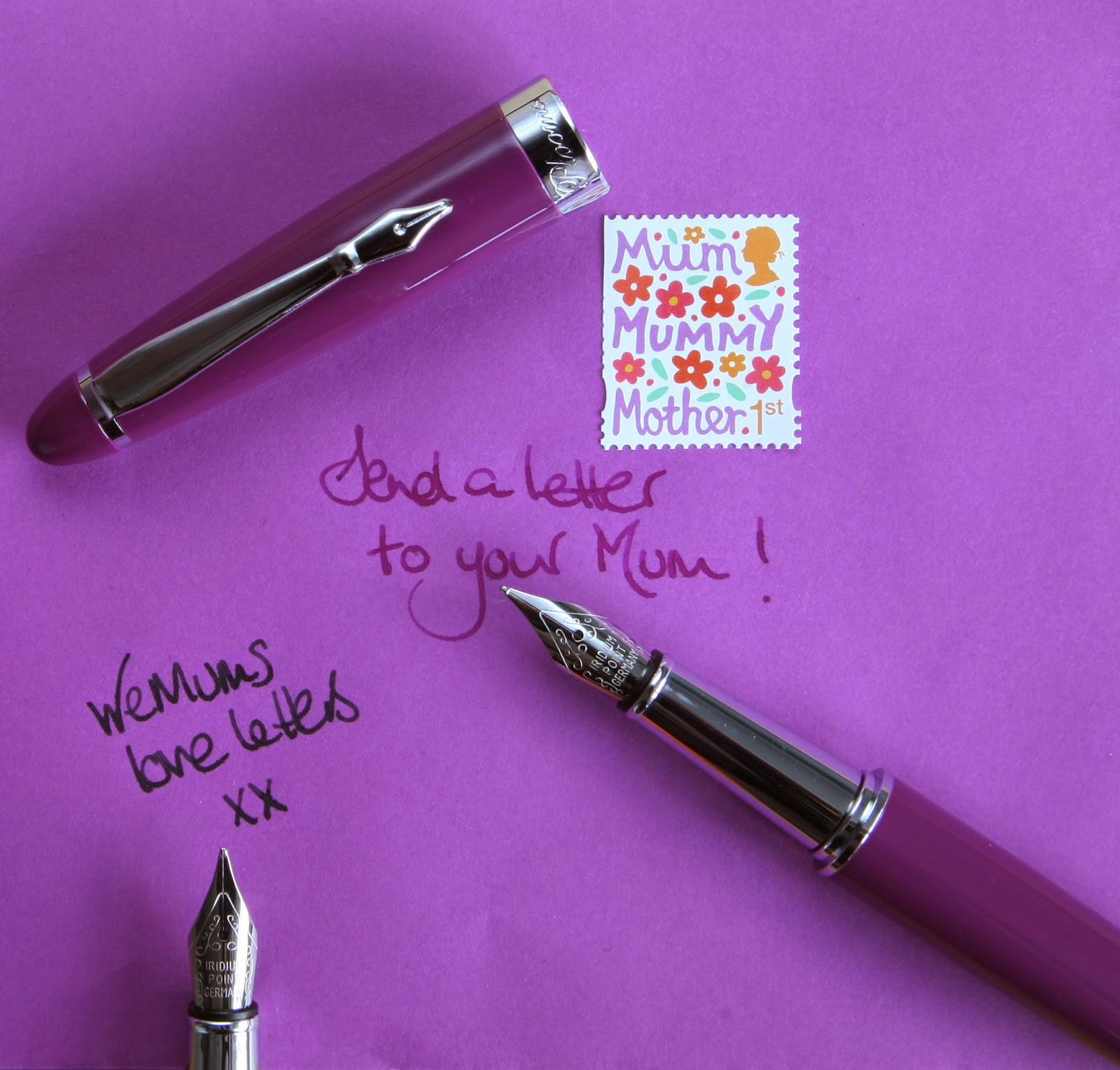Purple PLOOM fountain pen