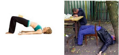 Yoga Positions Vs Liquor Positions Setu+bandha+sarvangasana+yoga