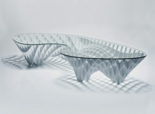 Modern Glass Coffee Table On Metal Base