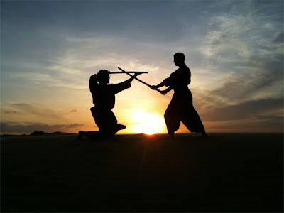 Foto Siluetas de Kung Fu