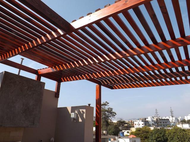 Oniria enero 2014 - Techos de madera para terrazas ...