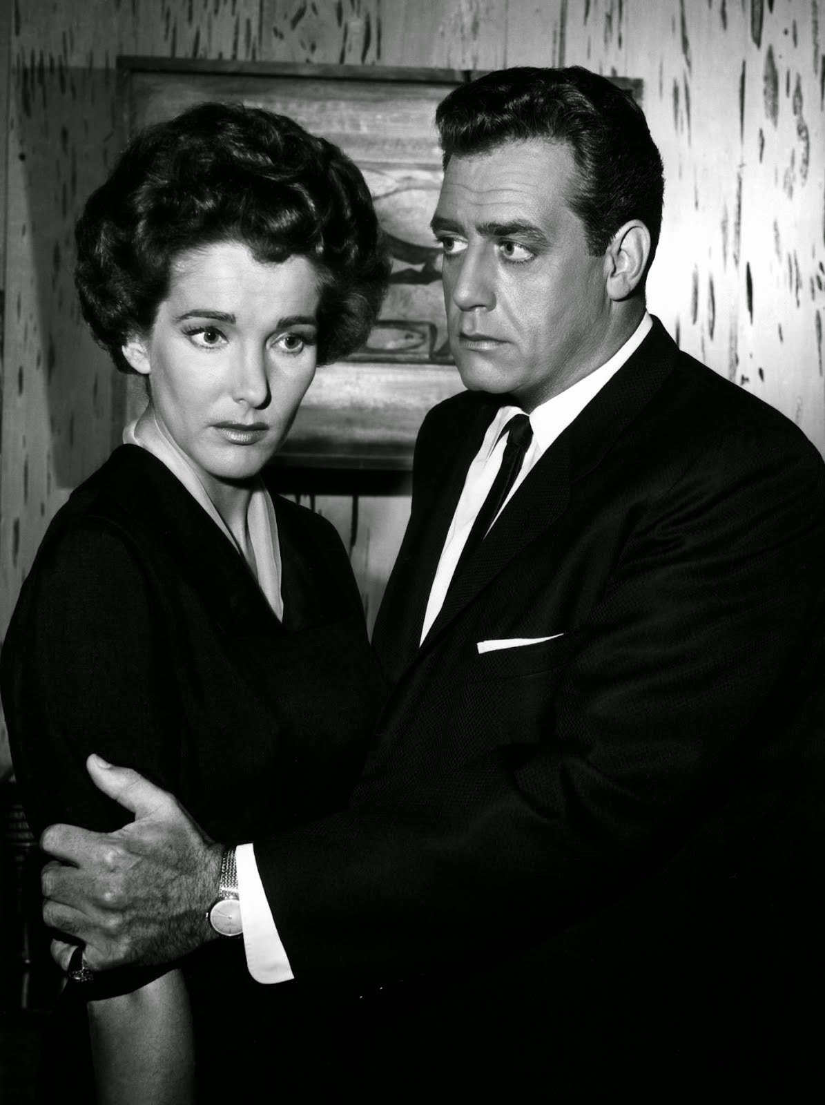 Julie with Raymond Burr