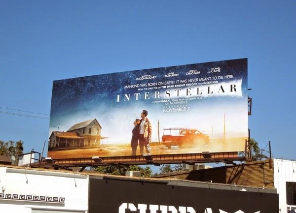 Interstellar movie billboard