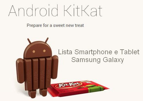 Lista smartphone e tablet Samsung Galaxy aggiornabili ad Android KitKat
