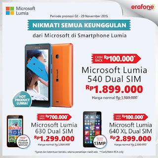 Promo Microsoft Lumia November 2015 Cashback dan Bonus Aksesoris