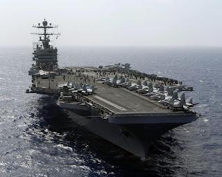 Guerra à vista: EUA envia o seu terceiro porta aviões ao Oriente Médio