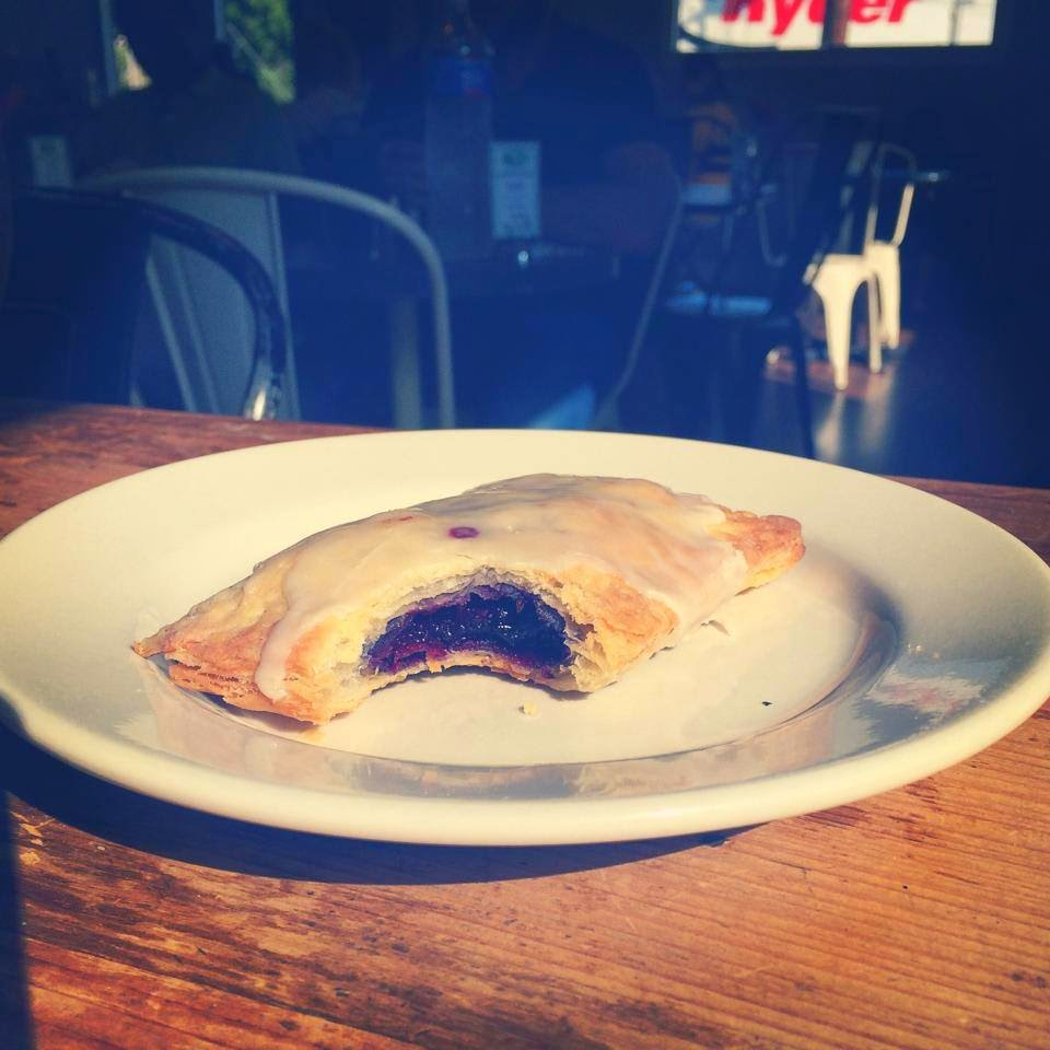 A Blueberry Poptart at Magpie Café in Baton Rouge