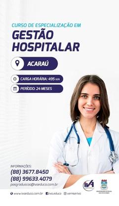 CURSO DE ESPECIALIZAÇÃO EM GESTÃO HOSPITALAR