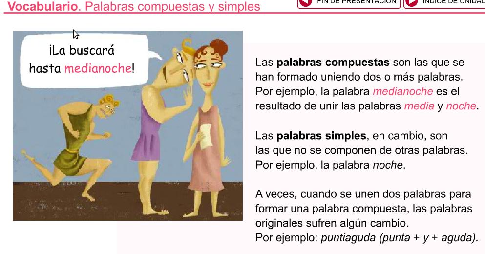 Palabras Silabas Compuestas Palabras Simples y Compuestas