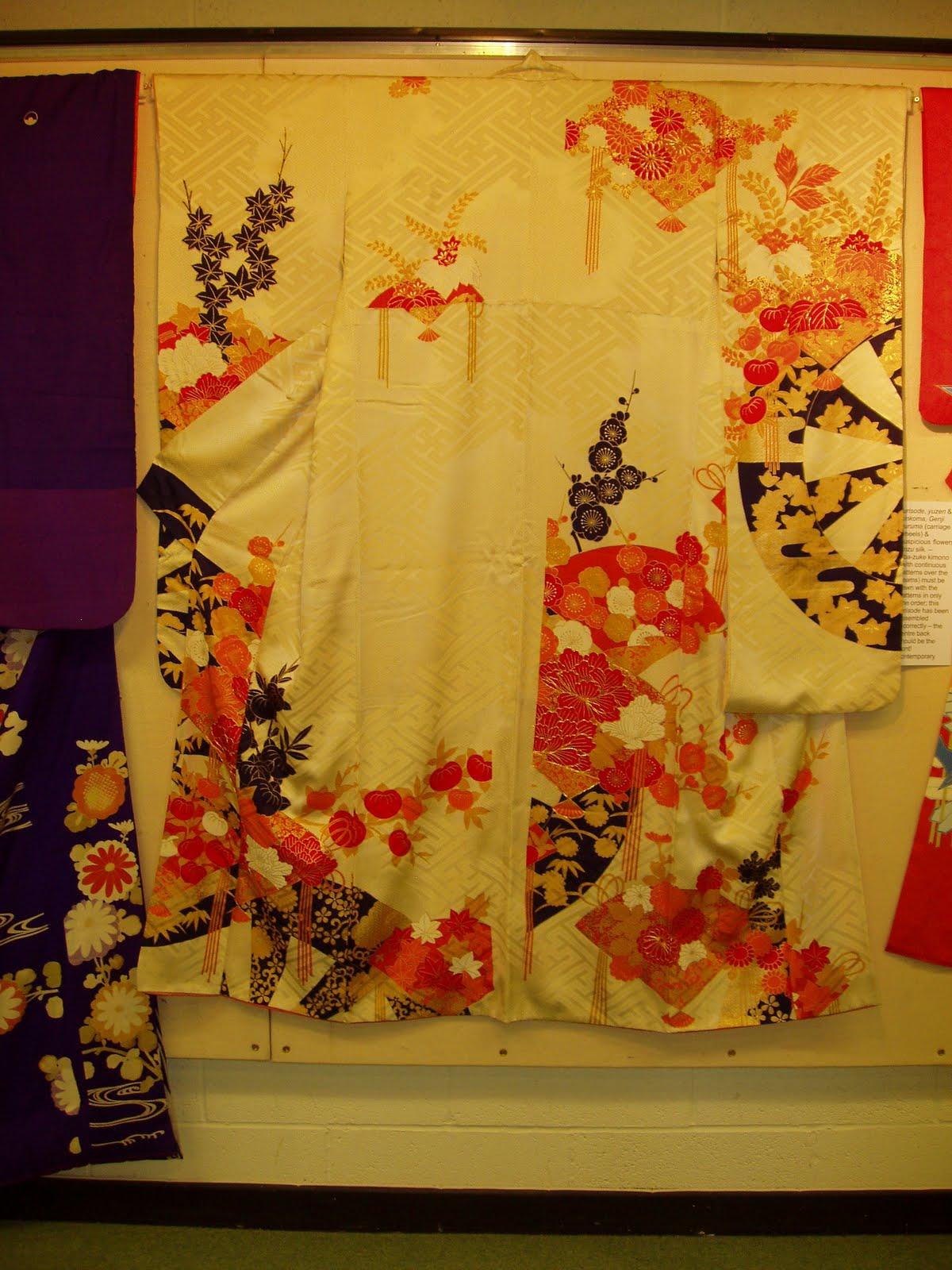 sashiko and other stitching: Kimono - Yuzen dyeing process