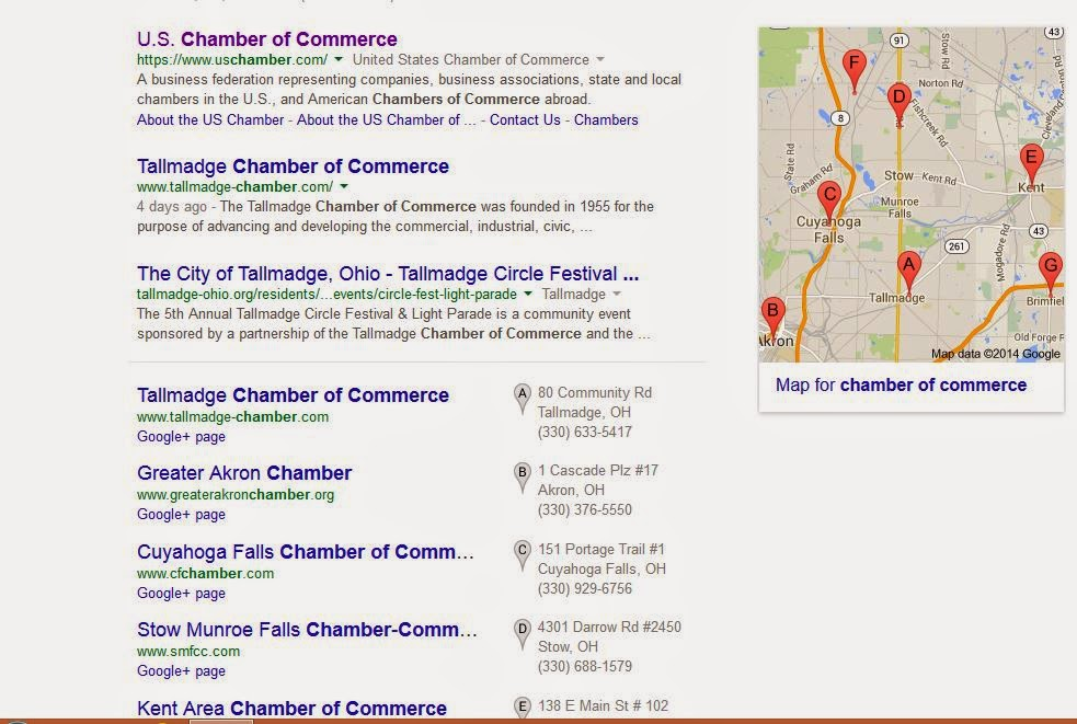 """chamber of commerce"" web search screen capture"