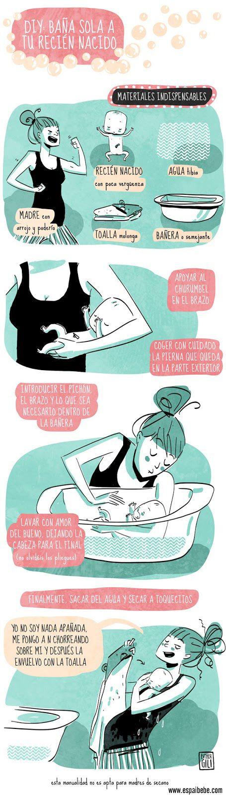 Cómo bañar a un recién nacido