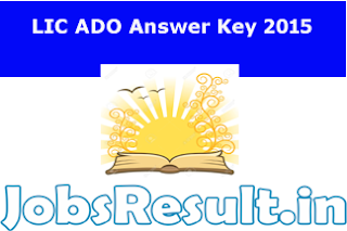 LIC ADO Answer Key 2015