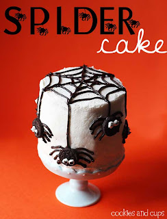 spidercake4 Pinterests Best Halloween Treats   Round up