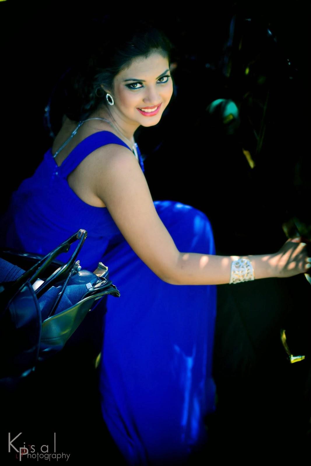 Senali Fonseka blue beauty