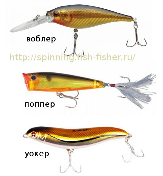 Воблеры- объемные рыболовные приманки для ловли хищника на спиннинг