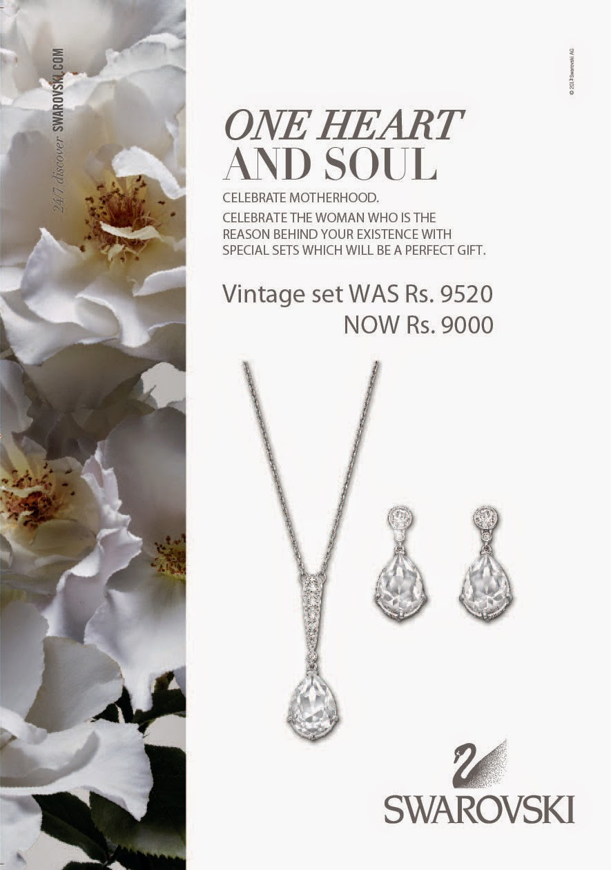 Vintage Set is an ideal gift! This rhodium-plated set will make any woman feel like a princess. It includes a necklace and pair of pierced earrings.
