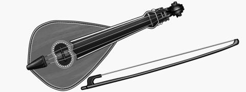 Cretan lyra:bowed string instrument