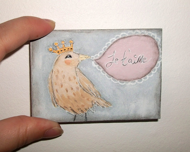 Whimsical aceo card by Micki Wilde