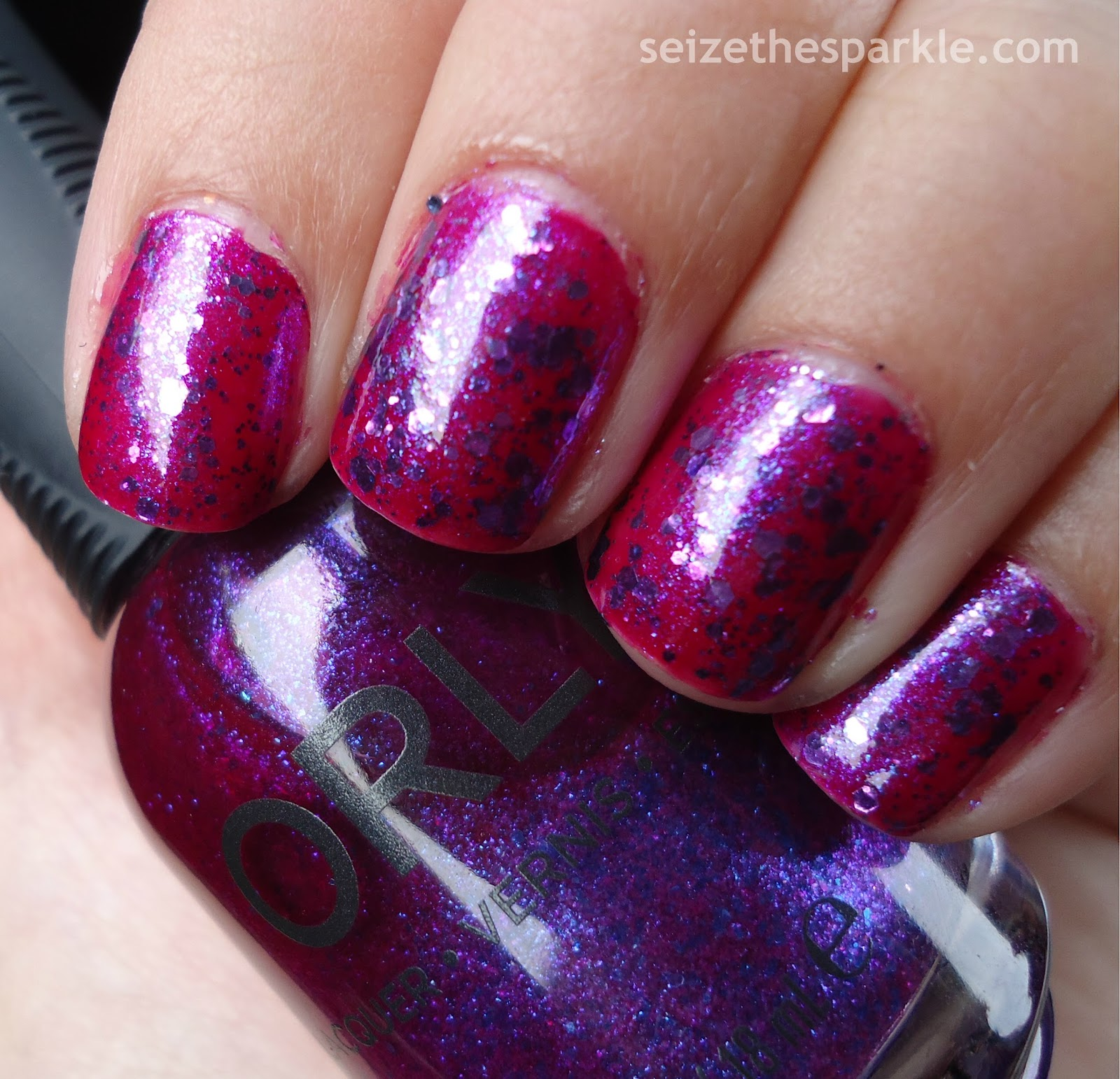 Orly Purple Poodle Jelly Glitter Sandwich
