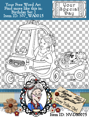 Cosy Trike GIRL digital stamp