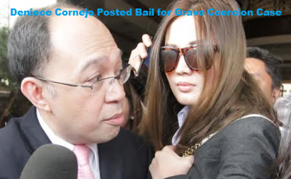 Deniece Cornejo Posted Bail for Grave Coercion Case