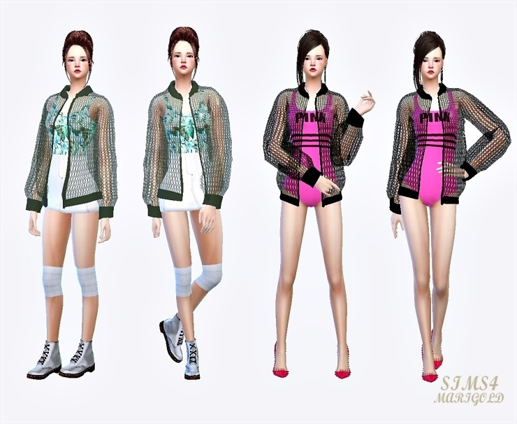 Sims 4 female jacket accessory