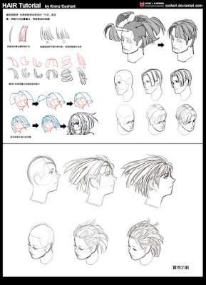 Tutorial de como desenhar e colorir cabelos 13891065