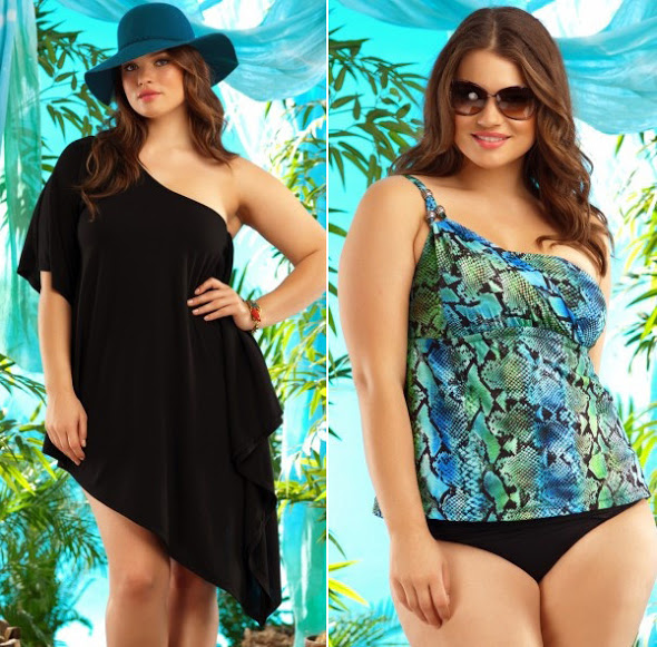 Com muita elegância coleção verão moda praia para gordinhas