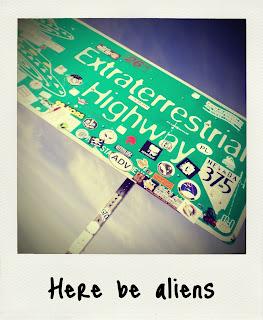 extra terrestrial highway sign