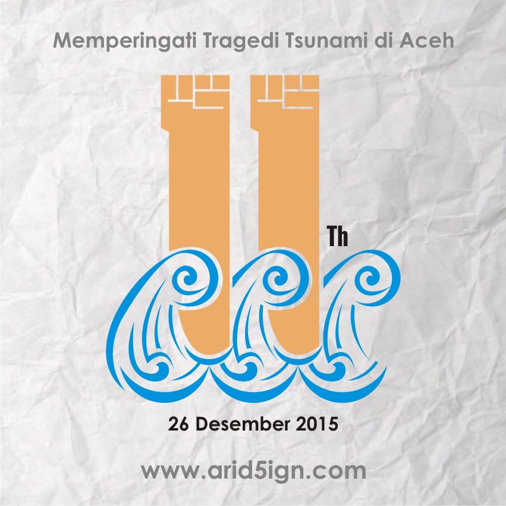 Desain Logo 11 Tahun Peringatan Tragedi Tsunami Aceh Tidak Resmi 12 Berikut Alur Proses Pembuatan Tersebut