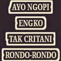 gambar Bahasa Jawa rondo dan Kopi