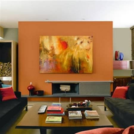 Decoracion actual de moda decoraci n con tonos anaranjados - Tonos de pintura ...