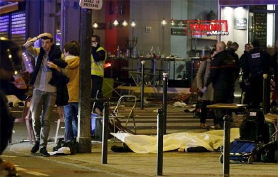Video serangan berani mati di Perancis