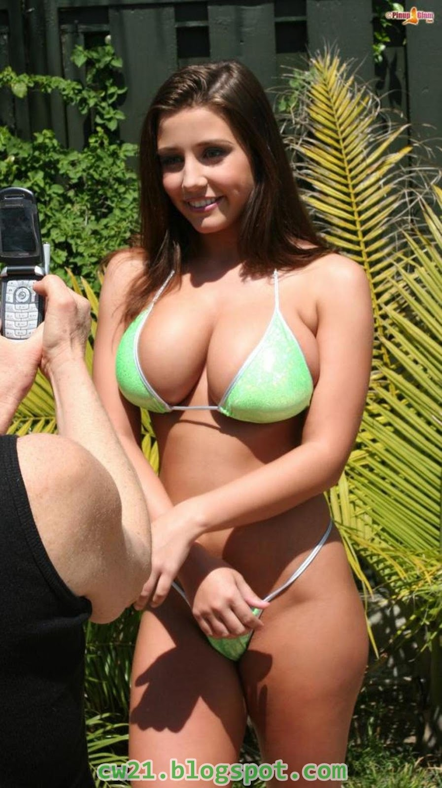 Share: Erica Campbell Green Bikini 11
