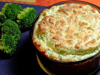 Soufflé au brocoli et au parmesan