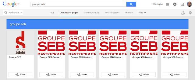 adhesion à Google PLus par les entreprises locales - exemple groupe Seb