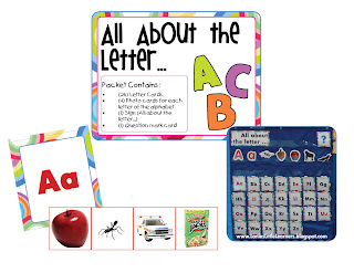 All About the Letter Pocket Chart Activities