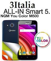 Offerta All-In Smart 5 di Tre Italia con NGM You Color M500 incluso